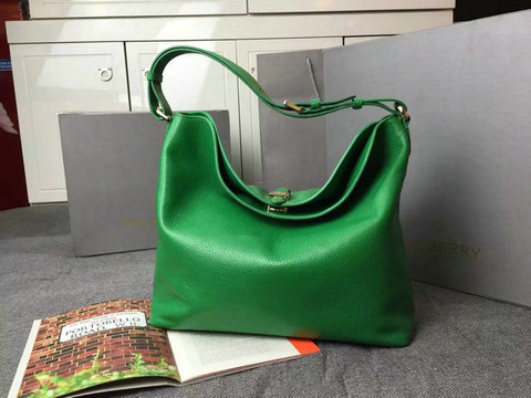 2015 Latest Mulberry Tessie Hobo in Green Soft Small Grain