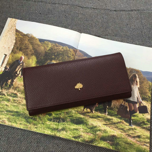 2015 A/W Mulberry Tree Continental Wallet Oxblood Grained Leather