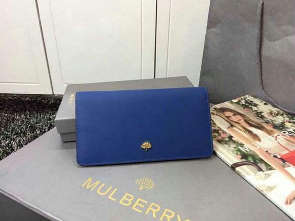2015 Cheap Mulberry Tree Slim Long Wallet in Sea Blue & Jungle Green Lamb Nappa