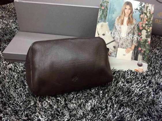 2015 Latest Mulberry Make Up Case 8437 in Chocolate Leather