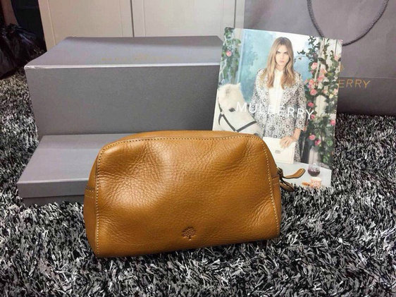2015 Latest Mulberry Make Up Case 8437 in Oak Leather