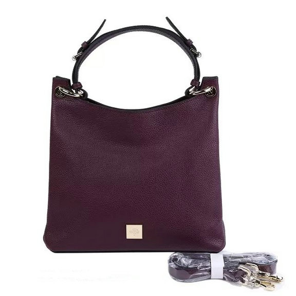 2015 A/W Mulberry Small Freya Hobo Purple Goat Printed Calf Leather