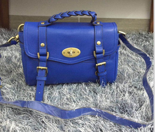 2015 New Mulberry Small Alexa Satchel Bag 7879 Blue Leather