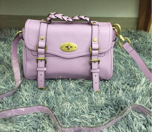 2015 New Mulberry Small Alexa Satchel Bag 7879 Lavender Leather
