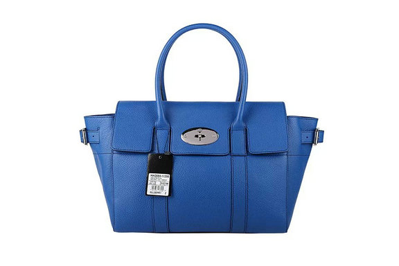 2015 Latest Mulberry Bayswater Buckle Bag in Sea Blue Small Grain Leather