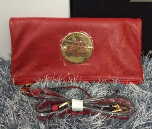 2015 New Mulberry Daria Clutch Bag MD8918 Red with wrist & shoulder strap
