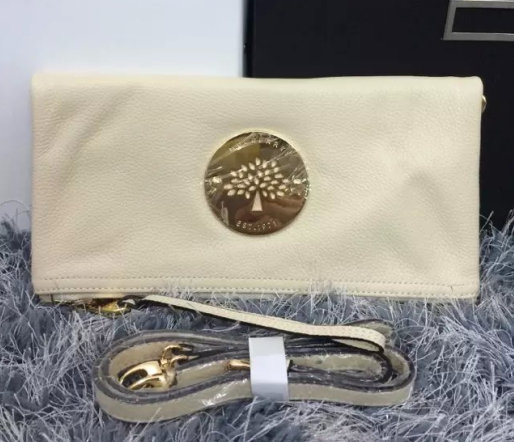 2015 New Mulberry Daria Clutch Bag MD8918 White with wrist & shoulder strap
