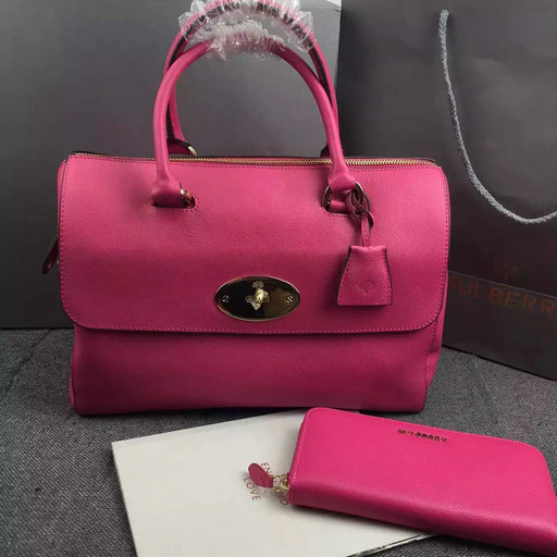 2015 Mulberry Del Rey Bag in Mulberry Pink Leather