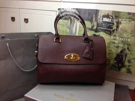 2015 Mulberry Del Rey Bag in Oxblood Small Grain Leather