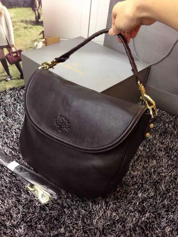 Latest Mulberry Effie Satchel Chocolate Spongy Pebbled