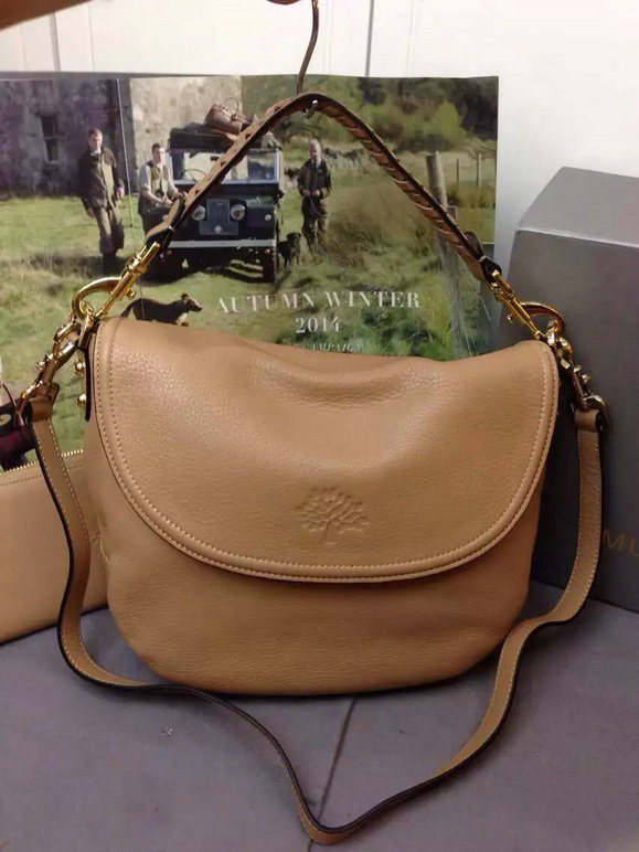 Latest Mulberry Effie Satchel Deer Brown Spongy Pebbled