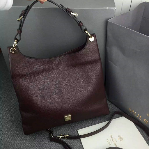 2015 A/W Mulberry Leather Freya Hobo in Oxblood