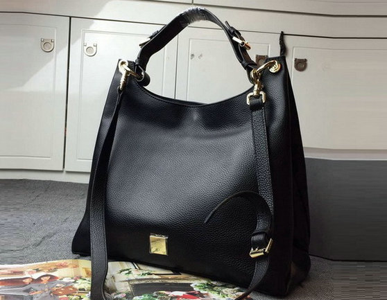 2015 A/W Mulberry Leather Freya Hobo in Black