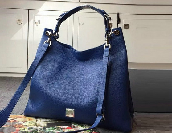 2015 A/W Mulberry Leather Freya Hobo in Blue