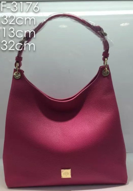 2015 A/W Mulberry Leather Freya Hobo in Mulberry Pink