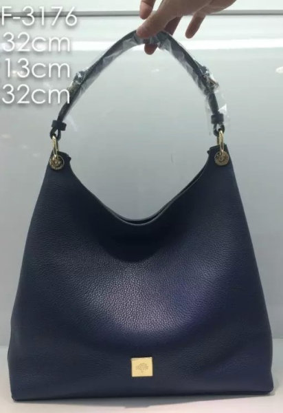 2015 A/W Mulberry Leather Freya Hobo in Navy Blue