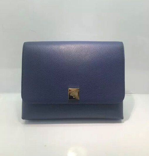 2015 A/W Mulberry Freya Satchel Bag in Blue Leather