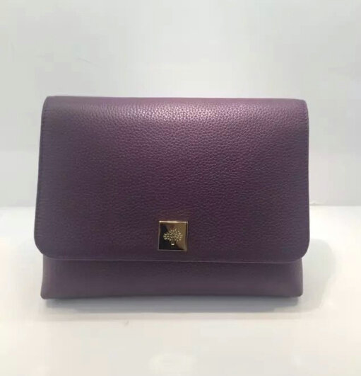 2015 A/W Mulberry Freya Satchel Bag in Purple Leather