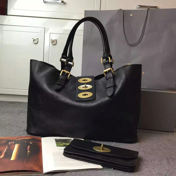 2015 Mulberry Brynmore Shopping Tote Bag in Black Natural Leather