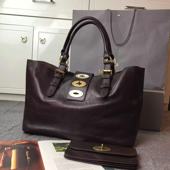 2015 Mulberry Brynmore Shopping Tote Bag in Chocolate Natural Leather