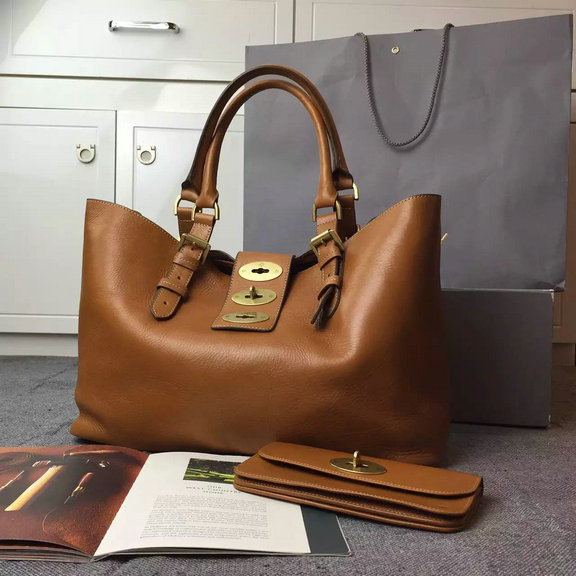2015 Mulberry Brynmore Shopping Tote Bag in Oak Natural Leather