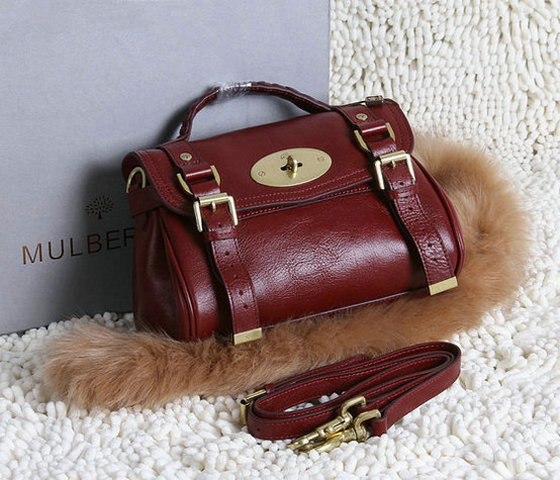 2015 New Mulberry Small Alexa Satchel Bag Oxblood Leather
