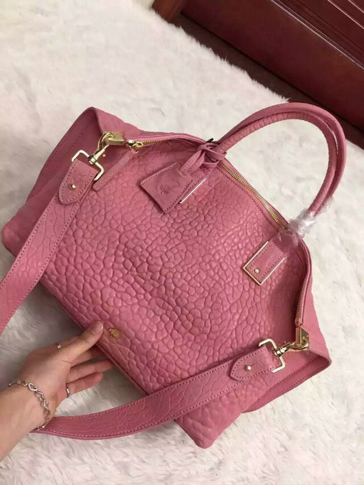 2015 A/W Mulberry Small Alice Zipped Tote Pink Shrunken Calf