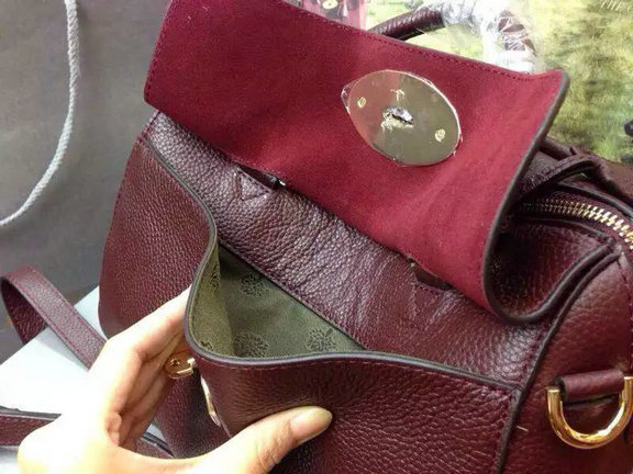 2015 Mulberry Small Del Rey Bag in Oxblood Small Grain Leather