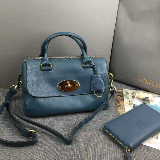 2015 Mulberry Small Del Rey Bag in Petrol Leather