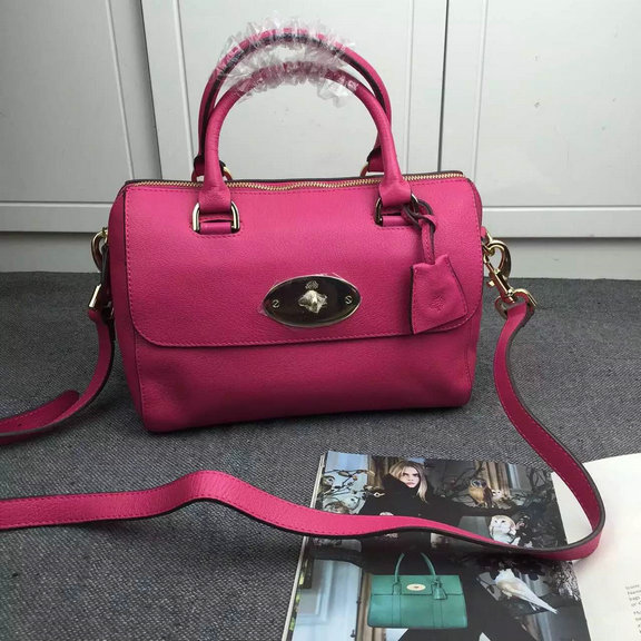 2015 Mulberry Small Del Rey Bag in Mulberry Pink Leather