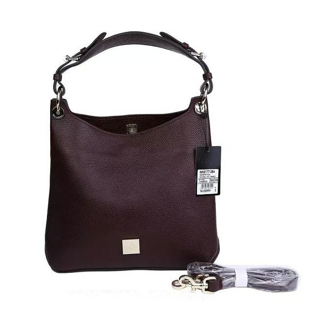 2015 A/W Mulberry Small Freya Hobo Oxblood Goat Printed Calf Leather