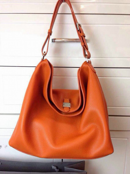 2015 Latest Mulberry Tessie Hobo in Mandarin Soft Small Grain