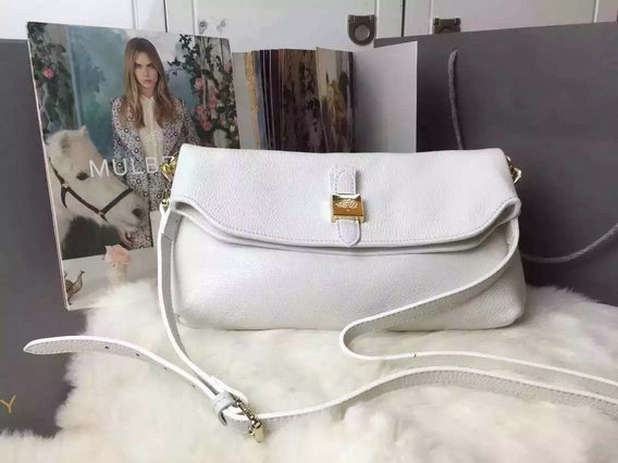 2015 New Mulberry Tessie Shoulder Bag in Cream Soft Grain Leather
