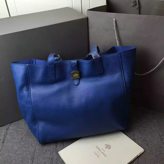 2015 Latest Mulberry Tessie Tote in Sea Blue Soft Leather