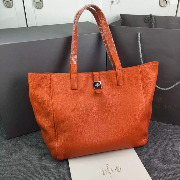 2015 Latest Mulberry Tessie Tote in Orange Soft Leather