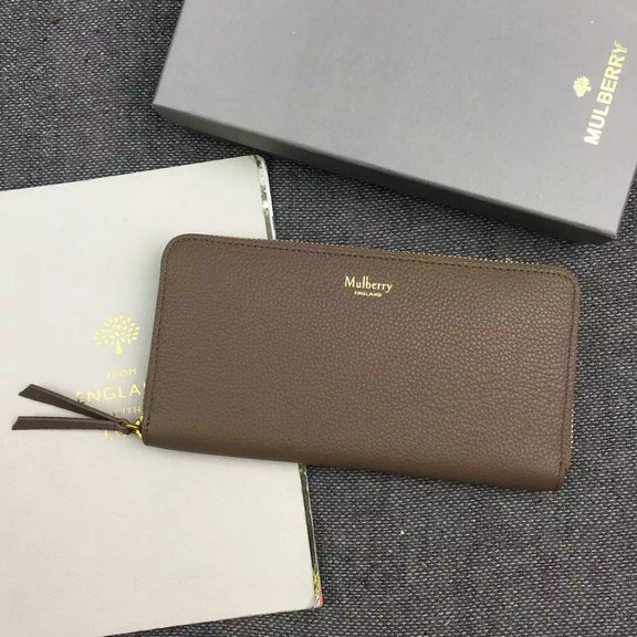 2016 Autumn/Winter Mulberry Zip Around Wallet Clay Small Classic Grain