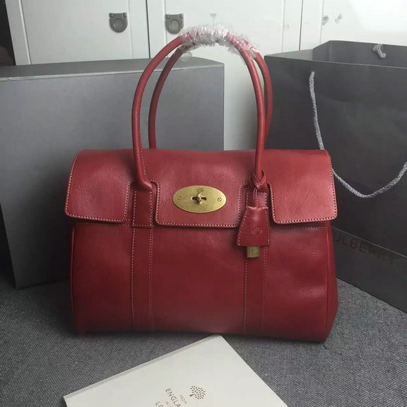 2015 Autumn/Winter Mulberry Bayswater Handbag in Red Natural Leather