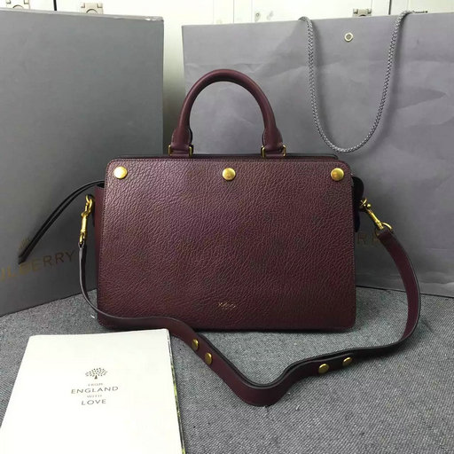 2016 Autumn/Winter Mulberry Chester Bag in Burgundy Textured Goat Leather