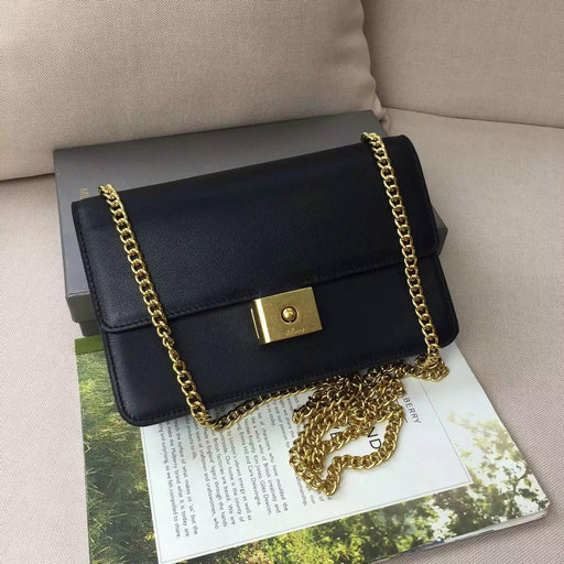 2016 A/W Mulberry Cheyne Clutch Bag in Black Calf Leather