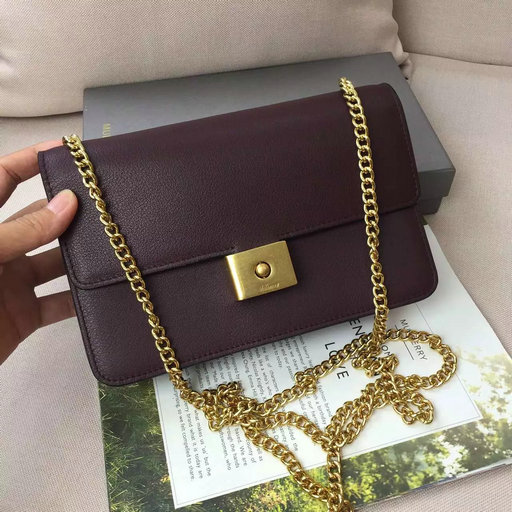 2016 A/W Mulberry Cheyne Clutch Bag in Burgundy Calf Leather