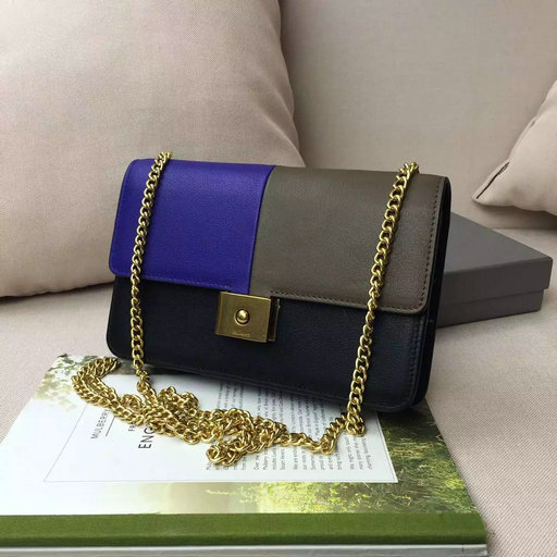 2016 A/W Mulberry Cheyne Clutch Bag in Indigo,Clay & Black Smooth Calf