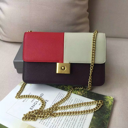 2016 A/W Mulberry Cheyne Clutch Bag in Rust,Dune & Burgundy Smooth Calf