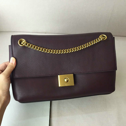 2016 A/W Mulberry Cheyne Shoulder Bag Burgundy Smooth Calf Leather