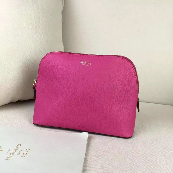 2016 A/W Mulberry Cosmetic Pouch Hot Pink Small Classic Grain
