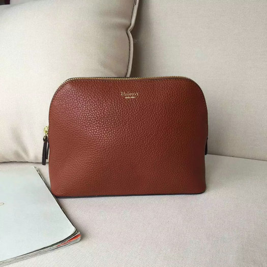 2016 A/W Mulberry Cosmetic Pouch Oak Small Classic Grain