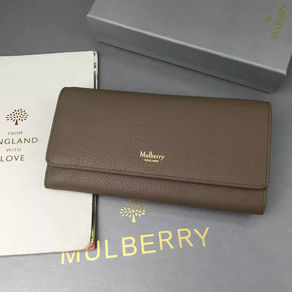 2016 Autumn/Winter Mulberry Continental Wallet Clay Small Classic Grain