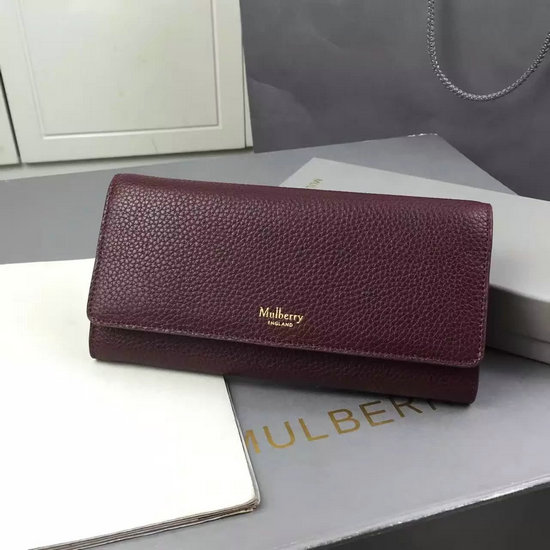 2016 Autumn/Winter Mulberry Continental Wallet Oxblood Small Classic Grain