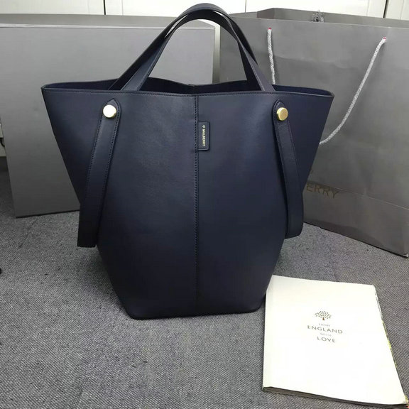 2016 Spring Mulberry Kite Tote Bag in Midnight Flat Calf Leather