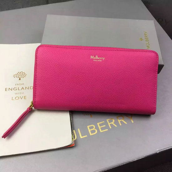 2016 Autumn/Winter Mulberry Zip Around Wallet Candy Small Classic Grain