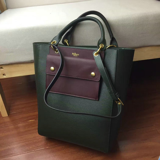 2016 A/W Mulberry Maple Tote Bag Racing Green Printed Goat Leather